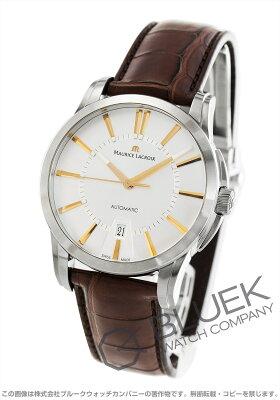 モーリス・ラクロア ポントス デイト クロコレザー 腕時計 メンズ MAURICE LACROIX PT6148-SS001-131