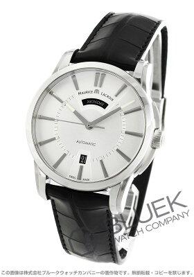 モーリス・ラクロア MAURICE LACROIX 腕時計 ポントス デイデイト アリゲーターレザー メンズ PT6158-SS001-13E