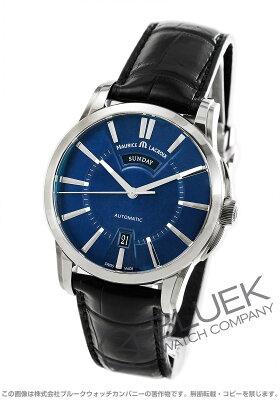 モーリス・ラクロア MAURICE LACROIX 腕時計 ポントス デイデイト クロコレザー メンズ PT6158-SS001-43E