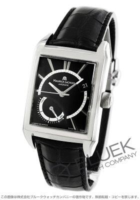 モーリス・ラクロア MAURICE LACROIX 腕時計 ポントス レクタンギュラー リザーブ・ド・マルシェ クロコレザー メンズ PT6207-SS001-330