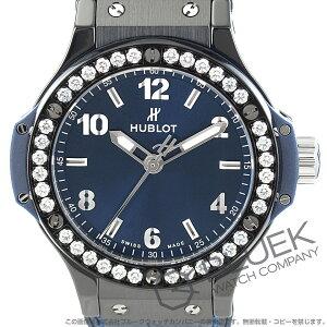 ウブロ ビッグバン セラミック ブルー ダイヤ アリゲーターレザー 腕時計 レディース HUBLOT 361.CM.7170.LR.1204