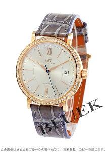 IWC 腕時計 ポートフィノ ミッドサイズ ダイヤ RG金無垢 アリゲーターレザー ユニセックス IW458107