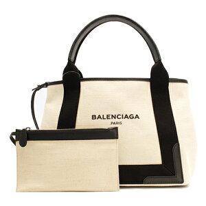 バレンシアガ BALENCIAGA トートバッグ ネイビーカバス NAVY CABAS S ブラック&ナチュラル 339933 AQ38N 1081 レディース
