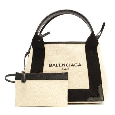 バレンシアガ トートバッグ バッグ レディース ネイビーカバス NAVY CABAS XS ブラック&ナチュラル 390346 AQ38N 1081 BALENCIAGA