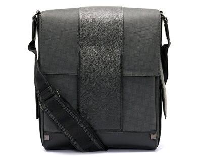 ダンヒル dunhill ショルダーバッグ ディーエイト 【D-EIGHT】 グレー&ブラック L3LZ60Z メンズ