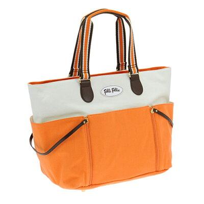 フォリフォリ FOLLIFOLLIE トートバッグ ホワイト&オレンジ SB1C055WWO WHITEORANGE 【レディース】