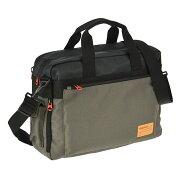 ディーゼル DIESEL ビジネスバッグ カーキ&ブラック X02405 P0166 H4585 【メンズ】