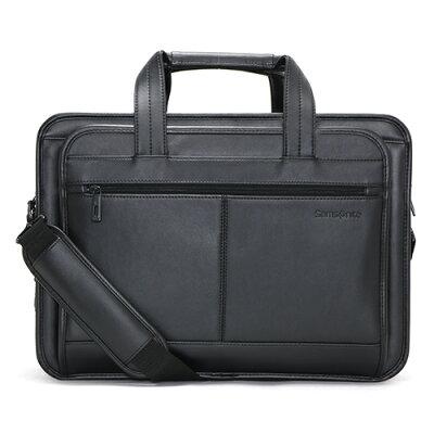 サムソナイト Samsonite ビジネスバッグ LEATHER BUSINESS CASE EXPANDABLE ブラック 43118 1041 メンズ