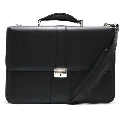 サムソナイト ビジネスバッグ バッグ メンズ LEATHER BUSINESS CASE FLAPOVER ブラック 43120 1041 SAMSONITE