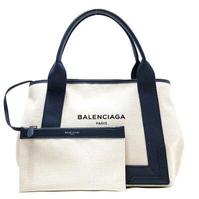 バレンシアガ BALENCIAGA トートバッグ ネイビーカバス NAVY CABAS S ナチュラル&ブルーデニム 339933 AQ38N 9282 レディース