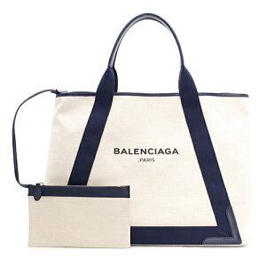 バレンシアガ BALENCIAGA トートバッグ ネイビーカバス NAVY CABAS M ナチュラル&ブルーオブスキュー 339936 AQ38N 4081 レディース
