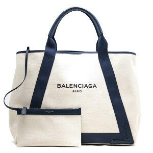 バレンシアガ BALENCIAGA トートバッグ ネイビーカバス NAVY CABAS M ナチュラル&ブルーデニム 339936 AQ38N 9282 レディース