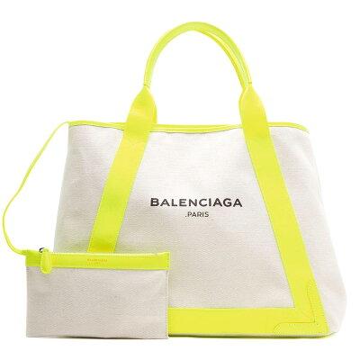 バレンシアガ BALENCIAGA トートバッグ ネイビーカバス NAVY CABAS M ナチュラル&ジューンソレイユイエロー 339936 DLJ2N 7261 レディース