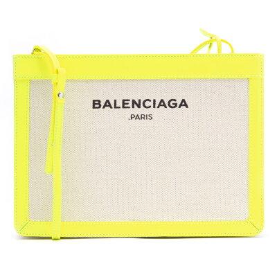 バレンシアガ BALENCIAGA ショルダーバッグ ネイビークラッチ NAVY CLUTCH ナチュラル&ジューンソレイユイエロー 339937 DLJ1N 7260 レディース