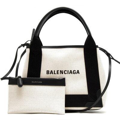 バレンシアガ トートバッグ バッグ レディース ネイビーカバス XS ブラック&ナチュラル 390346 AQ38N 1081 BALENCIAGA