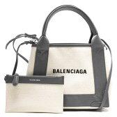 バレンシアガ BALENCIAGA トートバッグ/ショルダーバッグ ネイビーカバス NAVY CABAS XS ナチュラル&グレー 390346 AQ38N 1381 レディース