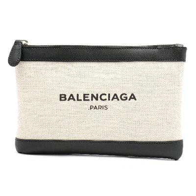 バレンシアガ BALENCIAGA ポーチ/クラッチバッグ ネイビークリップ 【NAVY CLIP】 S ナチュラル&ブラック 420406 AQ37N 1080 レディース