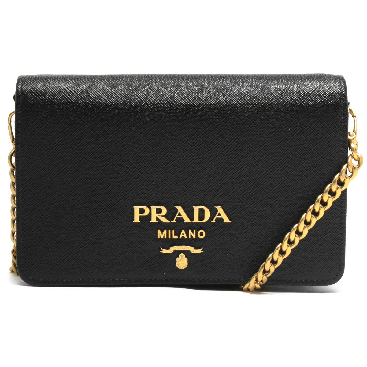 Prada Chain Wallet/Shoulder Bag/Long Wallet Bag Ladies Saffiano Lux Black 1BP006 NZV F0002 VCOW Spring/Summer 2020 New PRADA