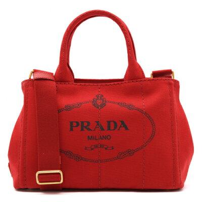 プラダ PRADA ハンドバッグ/ショルダーバッグ カナパ 【CANAPA】 三角ロゴプレート ロッソレッド 1BG439 ZKI F0011 レディース
