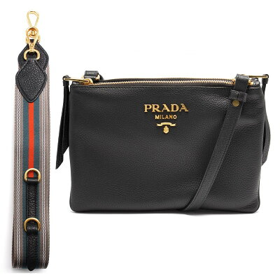 プラダ PRADA ショルダーバッグ ヴィット ダイノ VIT.DAINO ブラック 1BH046 2BBE F0002 レディース