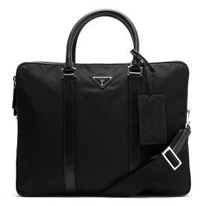 プラダ PRADA ビジネスバッグ/ショルダーバッグ TESSUTO SAFFIANO 三角ロゴプレート ブラック 2VE002 064 F0002 メンズ