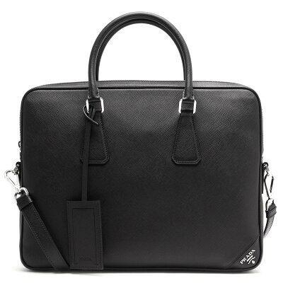 プラダ ビジネスバッグ/ショルダーバッグ バッグ メンズ SAFFIANO TRAVEL ブラック 2VE368 9Z2 F0002 PRADA