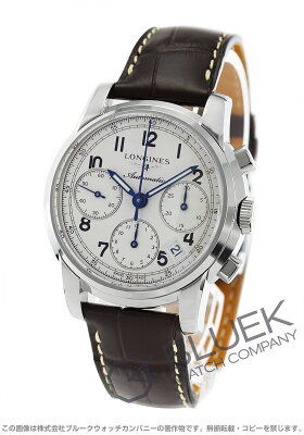 ロンジン LONGINES 腕時計 サンティミエ アリゲーターレザー メンズ L2.753.4.73.0