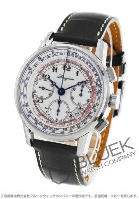 ロンジン ヘリテージ タキメーター クロノグラフ アリゲーターレザー 腕時計 メンズ LONGINES L2.781.4.13.2