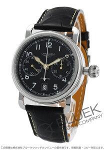 ロンジン LONGINES 腕時計 ヘリテージ アヴィゲーション オーバーサイズ アリゲーターレザー メンズ L2.783.4.53.2