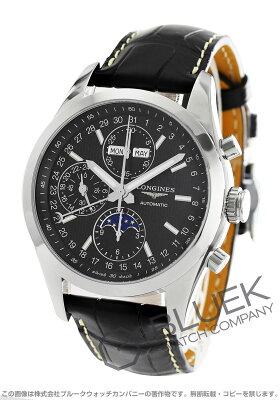 ロンジン コンクエスト クラシック クロノグラフ ムーンフェイズ アリゲーターレザー 腕時計 メンズ LONGINES L2.798.4.52.3