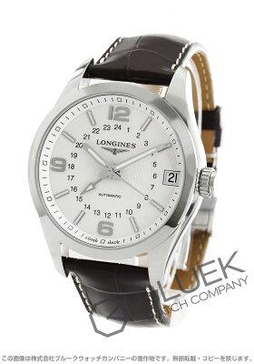 ロンジン LONGINES 腕時計 コンクエスト クラシック アリゲーターレザー メンズ L2.799.4.76.3