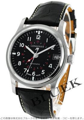 ロンジン ヘリテージ アヴィゲーション GMT アリゲーターレザー 腕時計 メンズ LONGINES L2.831.4.53.2