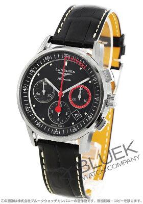 ロンジン ヘリテージ クロノグラフ アリゲーターレザー 腕時計 メンズ LONGINES L4.754.4.52.4