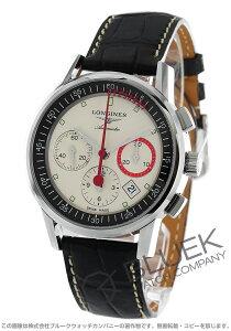 ロンジン LONGINES 腕時計 ヘリテージ コラムホイール クロノグラフ アリゲーターレザー メンズ L4.754.4.72.4