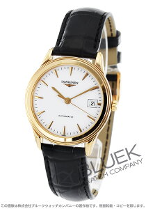 ロンジン LONGINES 腕時計 フラッグシップ PG金無垢 アリゲーターレザー メンズ L4.774.8.22.2