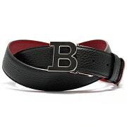 バリー BALLY ベルト B BUCKLENAMEL 35 M リバーシブル ブラック&レッド B BUCKLENAMEL 35 M 340 メンズ