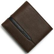 ブルガリ BVLGARI 二つ折財布 オクト 【OCTO】 ダークブラウン&ブラック 37734 メンズ