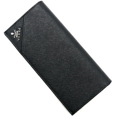 プラダ PRADA 長財布 SAFFIANO METAL ブラック 2MV836 QME F0002 メンズ