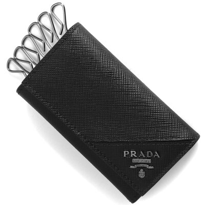 プラダ PRADA キーケース サフィアーノ メタル 【SAFFIANO METAL】 ブラック 2PG222 QME F0002 メンズ