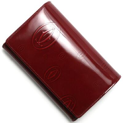 カルティエ Cartier 二つ折財布 ハッピーバースデイ 【HAPPY BIRTHDAY】 バーガンディレッド L3000347 レディース