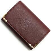 カルティエ Cartier キーケース マストライン ボルドー L3001358 メンズ レディース