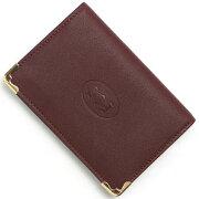 カルティエ Cartier カードケース【名刺入れ】 マストライン ボルドー L3001366 メンズ レディース