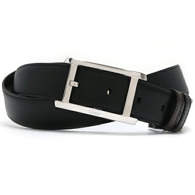 カルティエ Cartier ベルト タンク アメリカン 【TANK AM RICAINE】 ブラック&ダークブラウン L5000058 メンズ