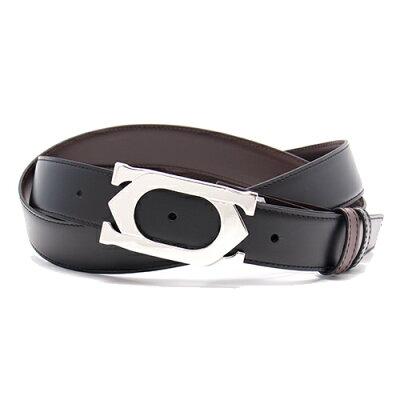 カルティエ Cartier ベルト ダブルC ロゴ リバーシブル ブラック&ダークブラウン L5000418 メンズ