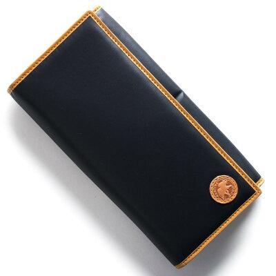 ハンティングワールド HUNTING WORLD 長財布 バチュー オリジン BATTUE ORIGIN ネイビー&ビンテージナチュラル 420 16A メンズ