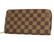 ルイヴィトン LOUIS VUITTON ダミエ ジッピーウォレット 長財布 ダークブラウン N60015