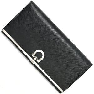 フェラガモ Salvatore Ferragamo 長財布 ガンチーニ ブラック 224633 0273805 レディース