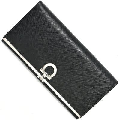 フェラガモ 長財布 財布 レディース ガンチーニ ブラック 224633 0273805 SALVATORE FERRAGAMO