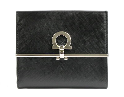 フェラガモ 二つ折り財布 財布 レディース ブラック 224639 SALVATORE FERRAGAMO