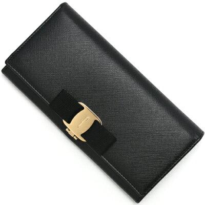 フェラガモ 長財布 財布 レディース ヴァラ 【VARA】 リボン ブラック 22A900 0588250 SALVATORE FERRAGAMO